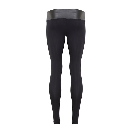 Suki Boy Leatherback Leggings in Matte Black