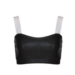 Suki Leatherback Miso Crop Top Black + White