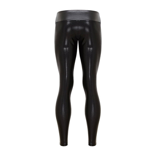 Suki Boy Leatherback Leggings in Black Gloss