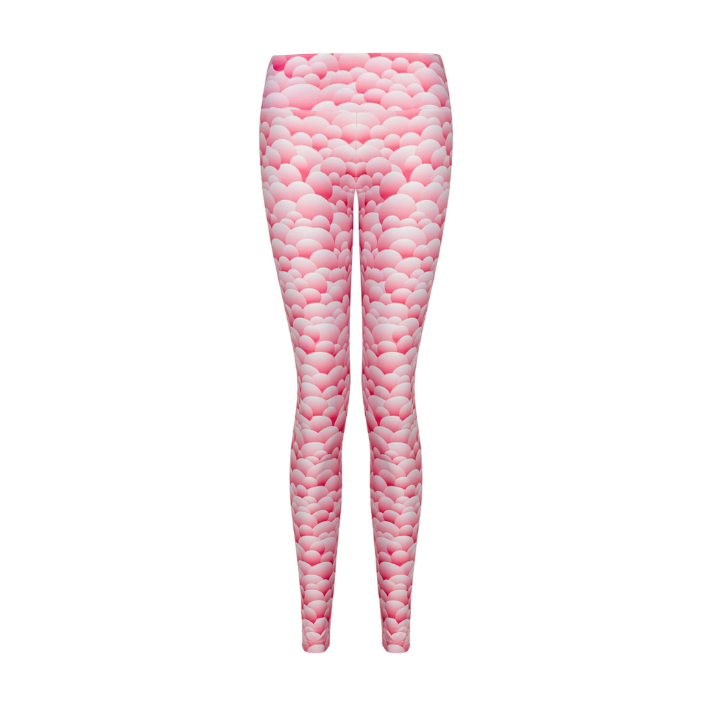 6a8302561786 Suki Leatherback Long Leggings in Pink Bubble