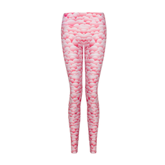 Suki Leatherback Long Leggings in Pink Bubble