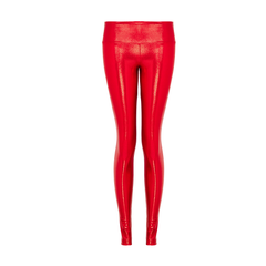 Suki Leatherback Long Leggings in Cherry Gloss