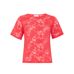 Linda Love Lace Top in Scarlet