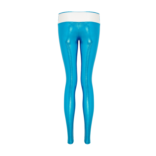 Sukishufu Leatherback Long Leggings in Turquoise Blue