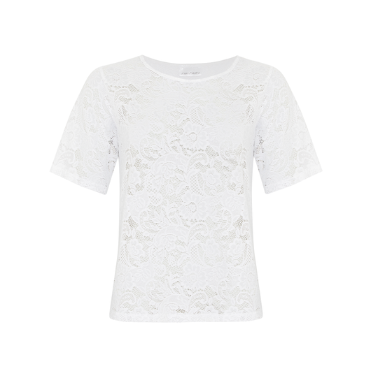Linda Love Lace Top in White by SukiShufu