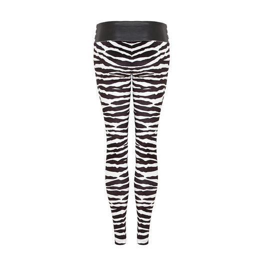 Suki Leatherback Leggings in Zebra Velvet - COMING SOON