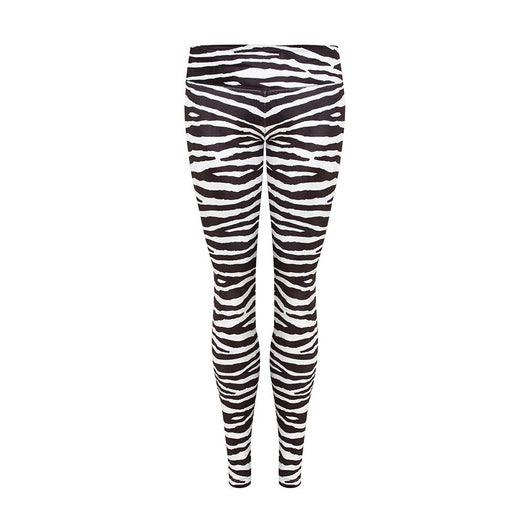 Suki Leatherback Leggings in Zebra Velvet