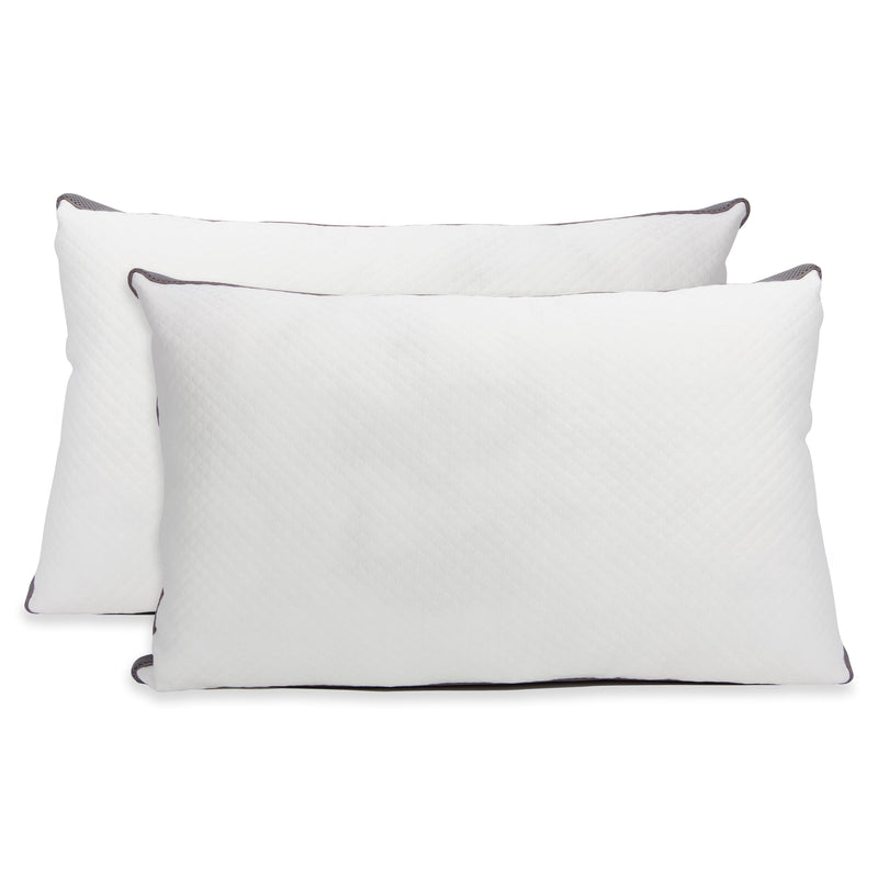 Cheer Collection Adjustable Shredded Latex Air Pillow with Gusset - Set of 2