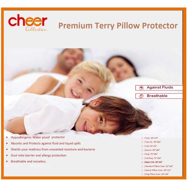 Cheer Collection Terry Water Proof Pillow Protector