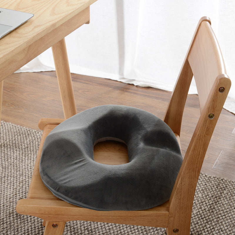 Cheer Collection Donut Seat Cushion | Memory Foam Pain Relief Pillow for Prolonged Sitting with Removable Microplush Washable Cover