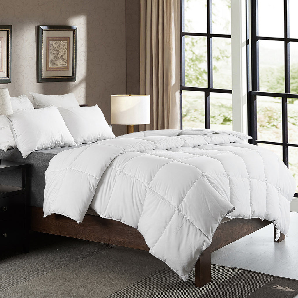 Cheer Collection Luxurious Duvet Insert Comforter, Super Plush Goose Down Alternative Comforter