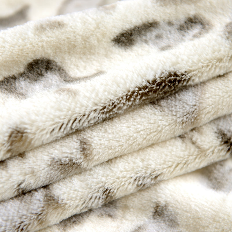 Cheer Collection Faux Fur Printed Blanket - Multiple Colors & Sizes - By Cheer Collection