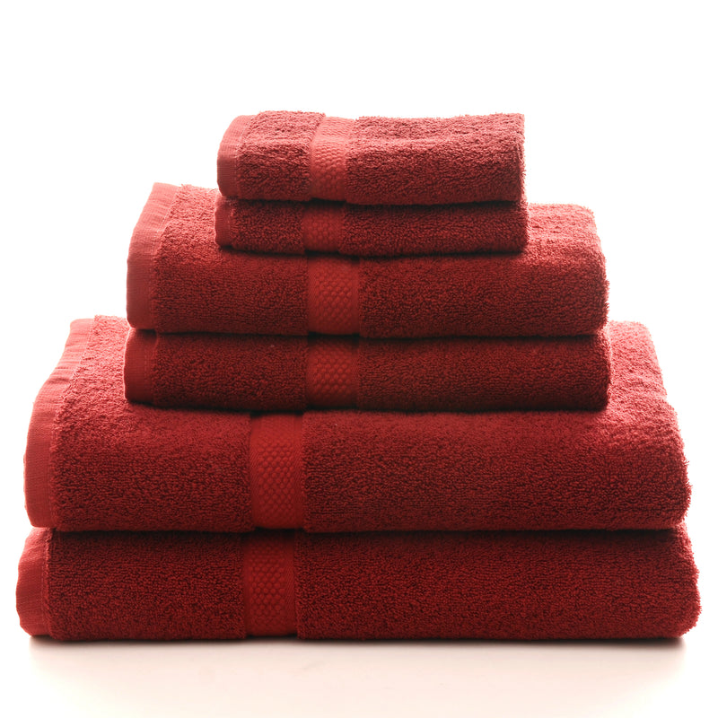 Cheer Collection 550 GSM 6 Piece Towel Set - Assorted Colors