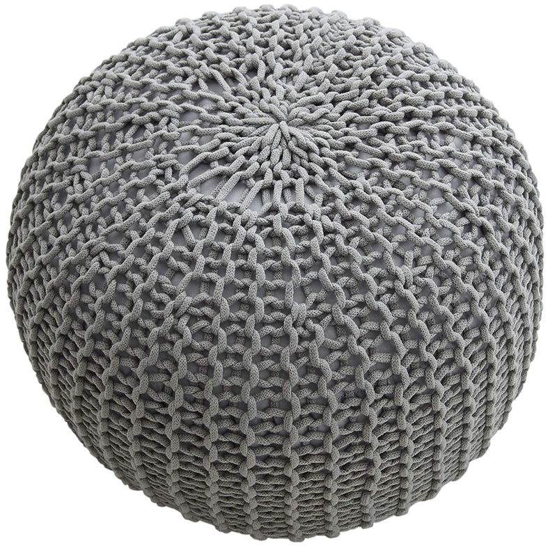 "Cheer Collection 18"" Round Ottoman Pouf"