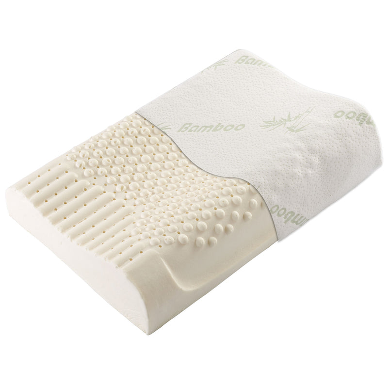 Cheer Collection Contoured Latex Memory Foam Pillow