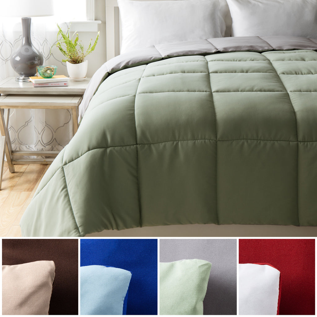 Cheer Collection All Season Down Alternative Reversible Comforter - Assorted Colors and Sizes
