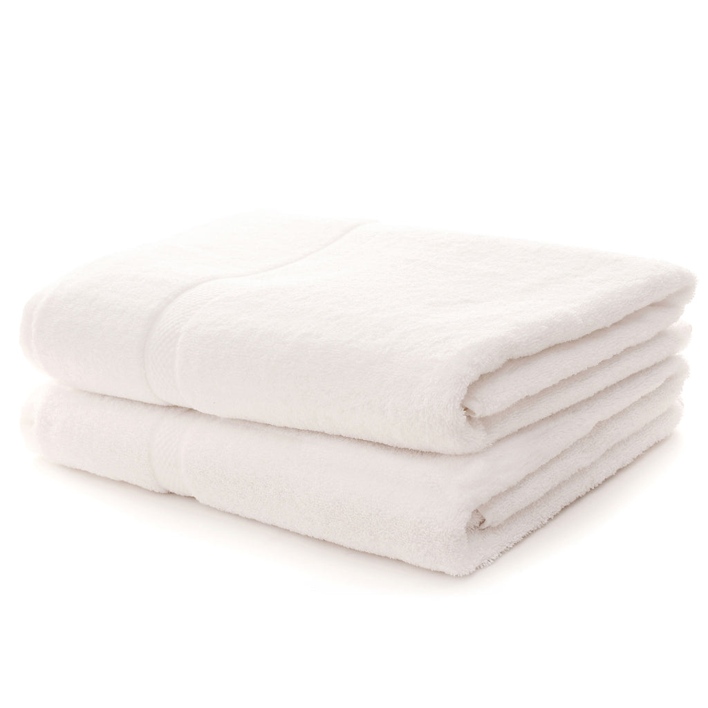 Cheer Collection Luxurious Super-soft Absorbent White Bath Sheet Towels (Set of 2)