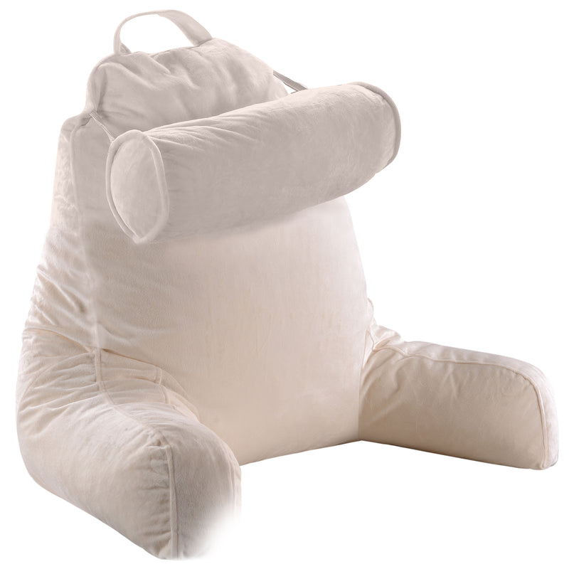 Cheer Collection TV &  Reading Pillow with Detachable Cervical Bolster Backrest , Washable
