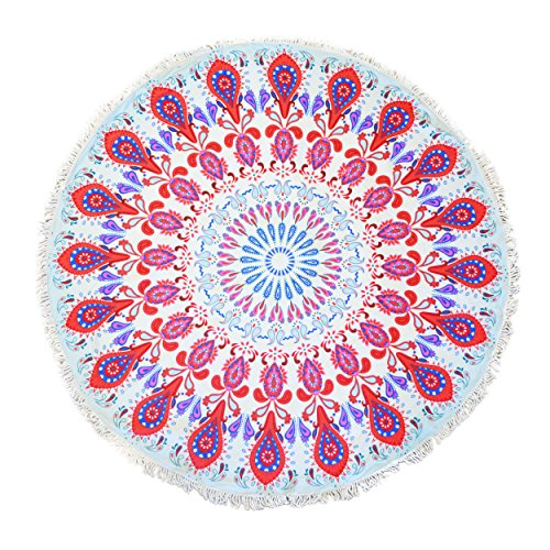 Cheer Collection Multi Purpose Decorative Terry 60 Round Beach Towel