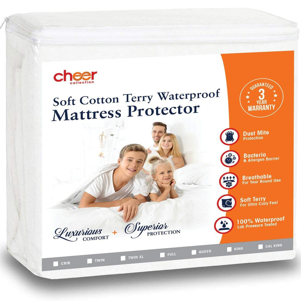 Cheer Collection Terry Water Proof Mattress Protector - Baby Crib