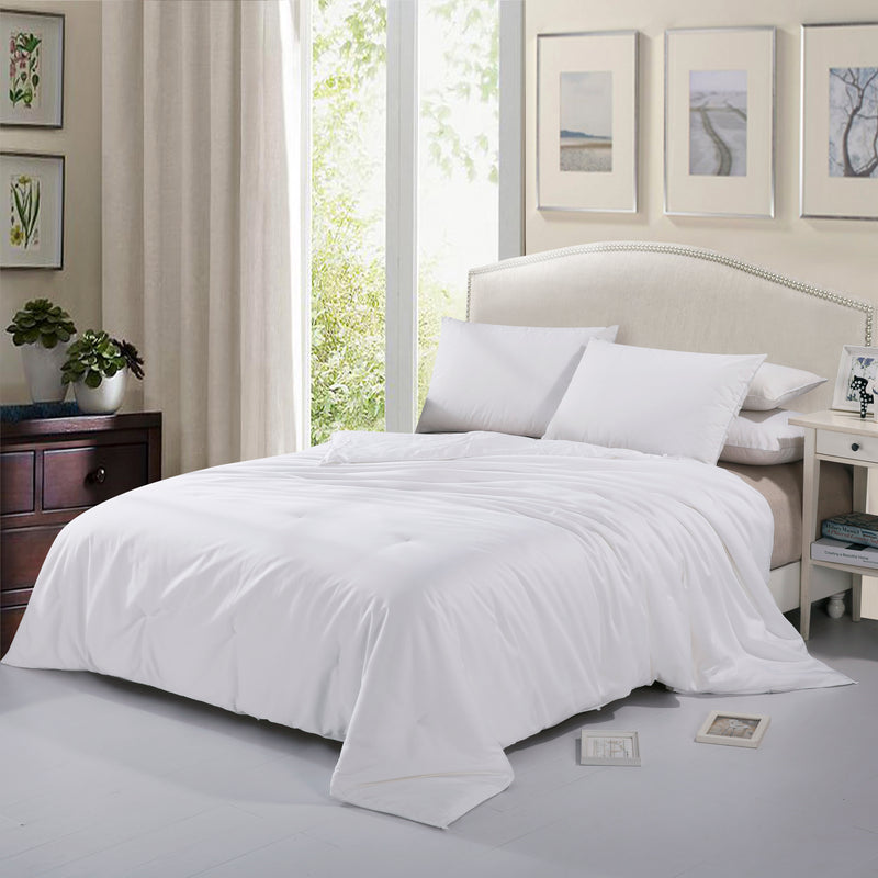 Cheer Collection Tussah Silk Comforter | 100% Natural Silk Luxury Twin Comforter and Duvet for All Seasons
