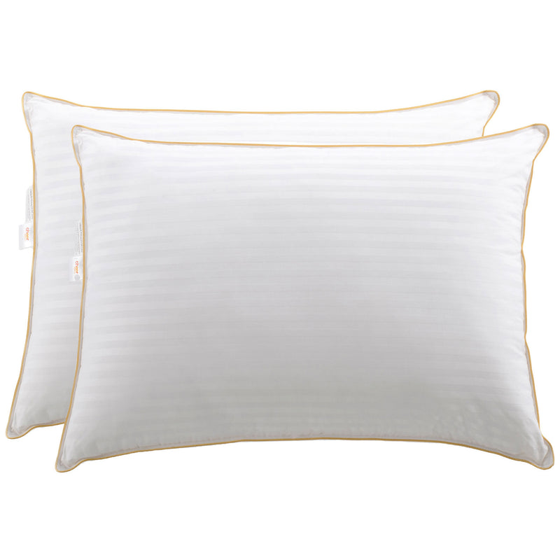 Cheer Collection - Set of 2 -Goose Down Alternative Striped Pillow - Multiple Sizes