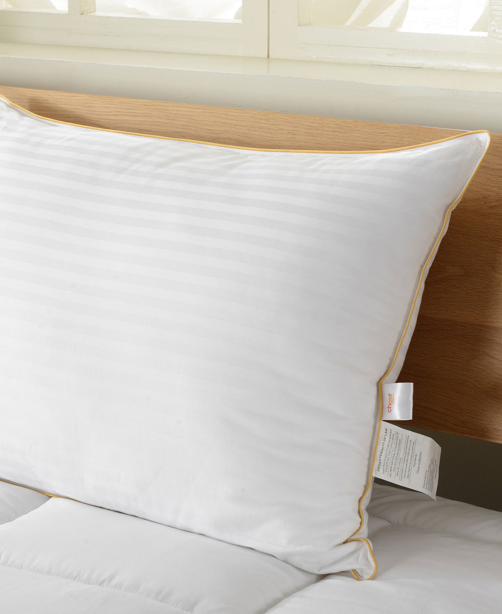 Down Alternative 300TC Striped Pillow Standard 20 x 28 - By Cheer Collection