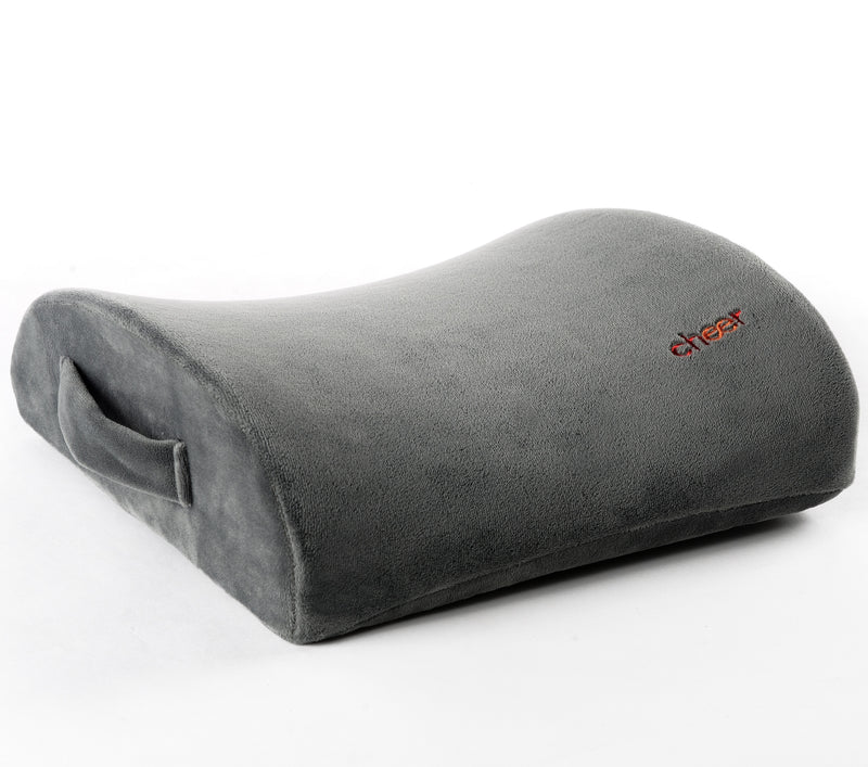 Cheer Collection Memory Foam Lumbar Cushion For Lower Back Pain Relief and Support Pillow