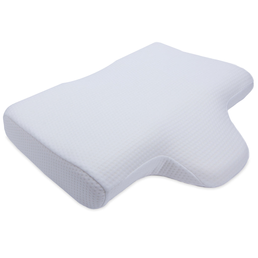 Cheer Collection Memory Foam Anti Snore Therapeutic Neck Pillow
