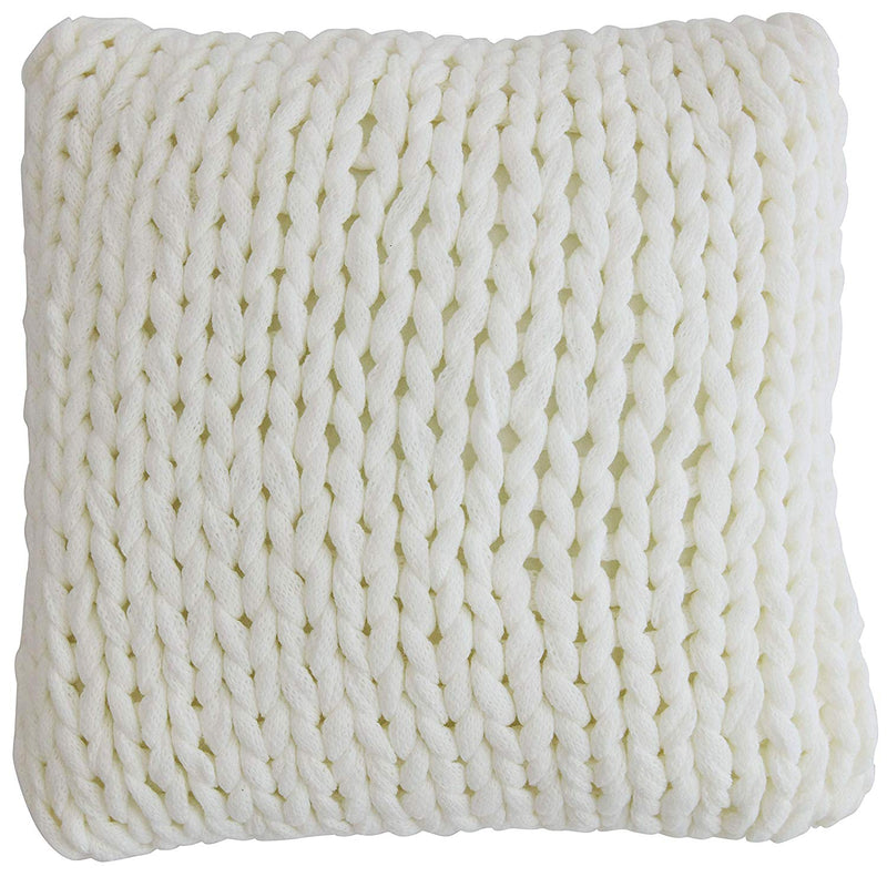 "Cheer Collection 18"" x 18"" Knitted Throw Pillow"