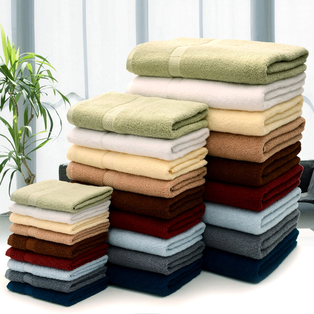 Cheer Collection Soft Absorbent Bath Sheet (Set of 4) - Multiple Color Options Available