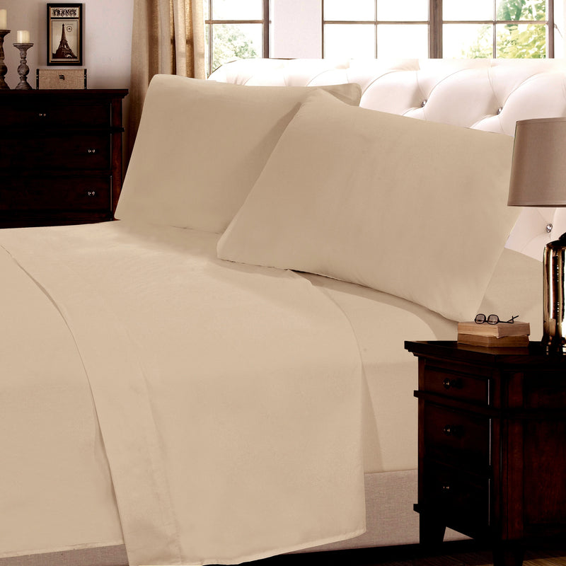 Cheer Collection 6 Piece 1800 Series Sheet Set - Assorted Colors & Sizes