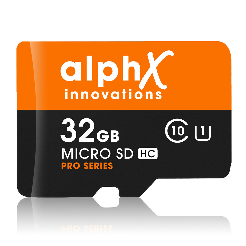 AlphX 32gb Micro SD High Speed Class 10 Memory Card