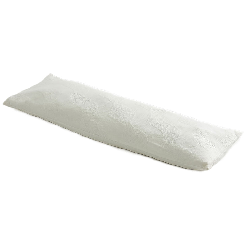 Cheer Collection Gel Infused 20 x 54 Body Pillow with Bamboo Cover