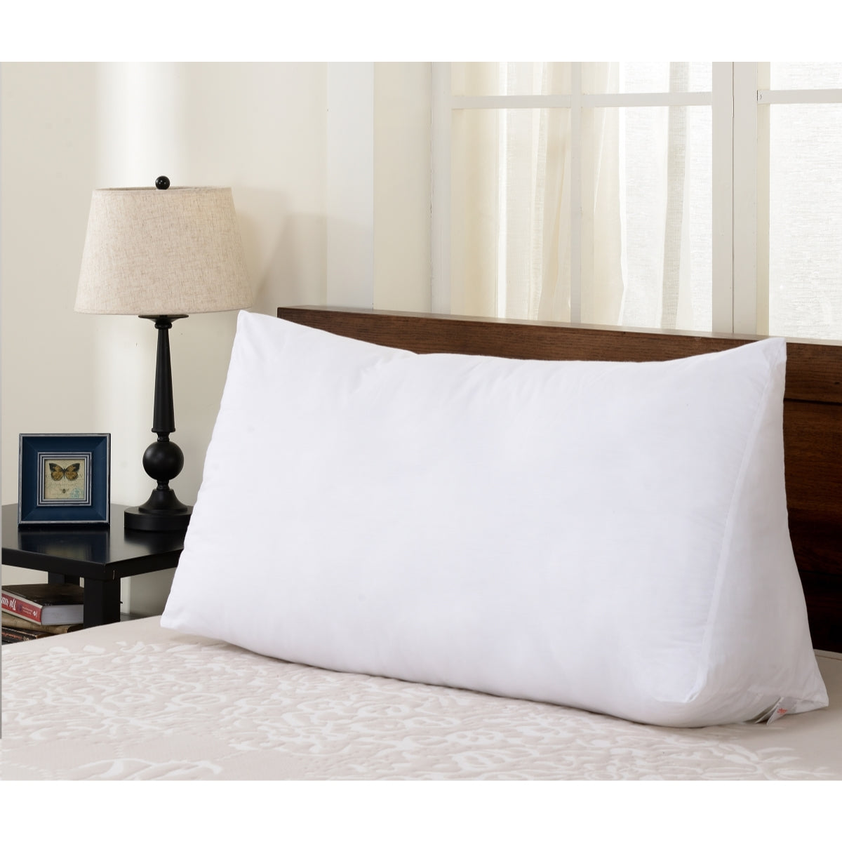 cheer collection ultra supportive oversized reading u0026 anti acid reflux wedge pillow