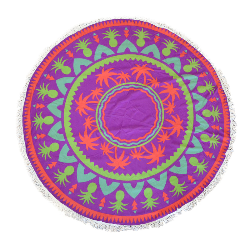 "Cheer Collection Multi Purpose Decorative Terry 60"" Round Beach Towel"