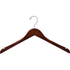 "15.5"" Wooden Top Hanger with Non-Slip Rubber"