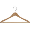 "17"" Rubber Coated Wooden Suit Hanger"