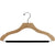 "17"" Wavy Wooden Suit Hanger with Flocked Bar"