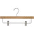 "14"" Wooden Bottom Hangers with Metal Clips"