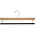 "16"" Wooden Bottom Hangers - Flocked Bar"
