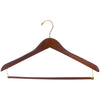"17"" Wooden Suit Hanger with Gold Metal"