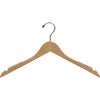 "17"" Wooden Top Hanger with Non-Slip Rubber"