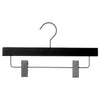 "12"" Black Wooden Skirt or Pant Hanger"