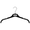 "EC - 16"" Black Flocked Top Hanger"