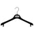 "ELL - 16.5"" Black Flocked Jacket Hanger"