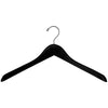 "17"" Black Wooden Jacket Hanger"