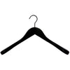 "17"" Black Wooden Jacket Hangers"