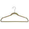 Flocked Velvet Suit Hanger, with hooks in Rose Gold, Silver and Gold Colors