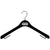 "MLS - 16.5"" Black Flocked Jacket Hanger"